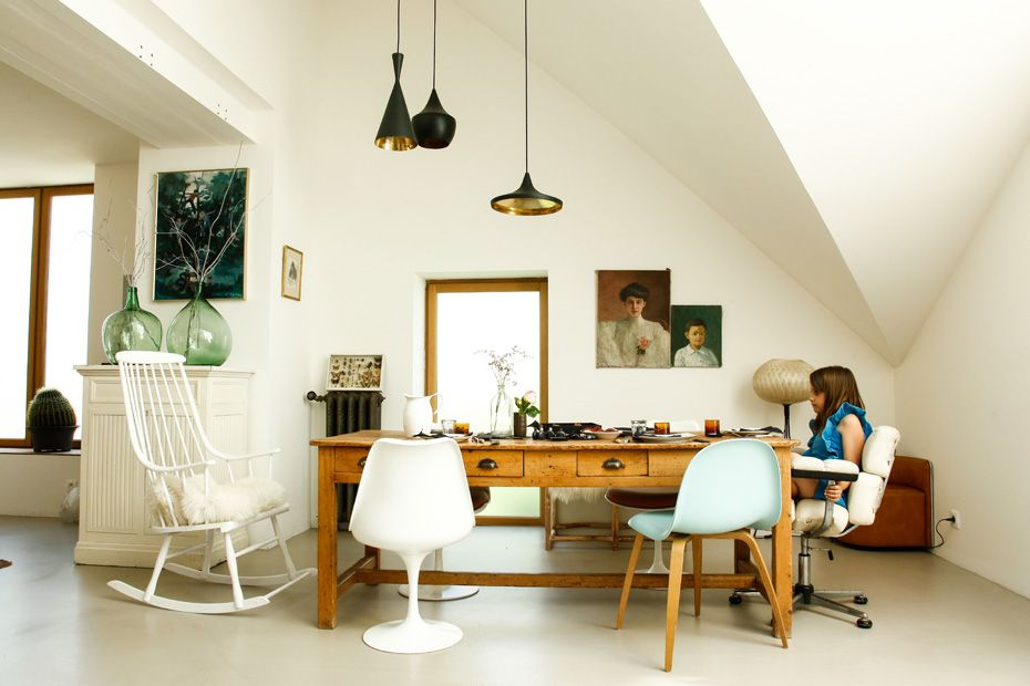 Mes favoris déco \ lifestyle #2 Eames chairs, Small living dining - table salle a manger loft