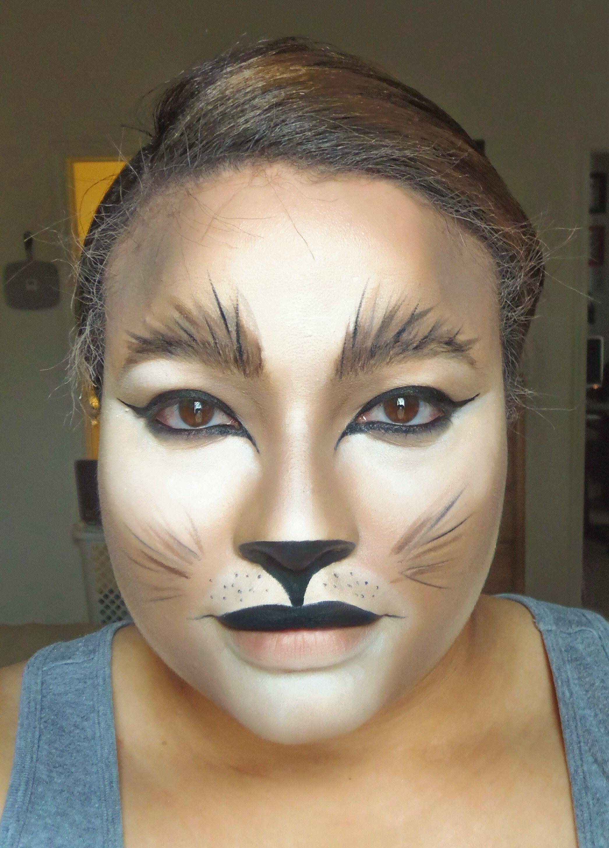 costume makeup alert lionesscat halloween makeup - Halloween Makeup For Cat Face