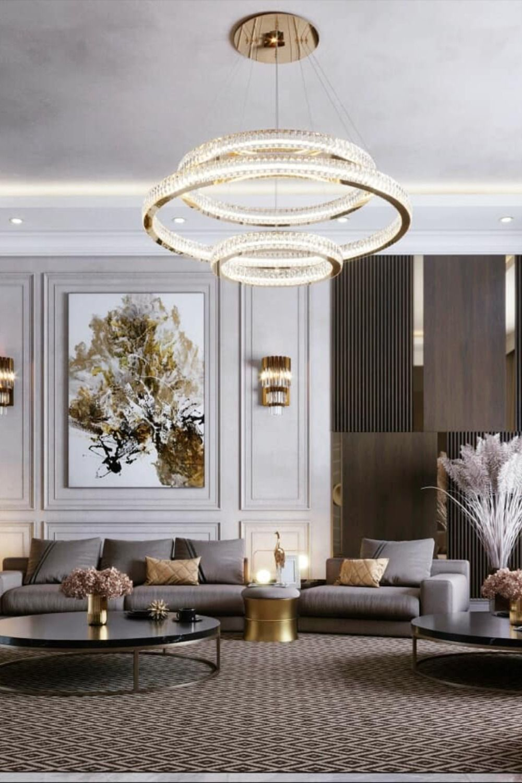 Modern Entryway In Dark Tones Contemporary Interior Design Living Room Neoclassical Interior Design Living Room Design Decor