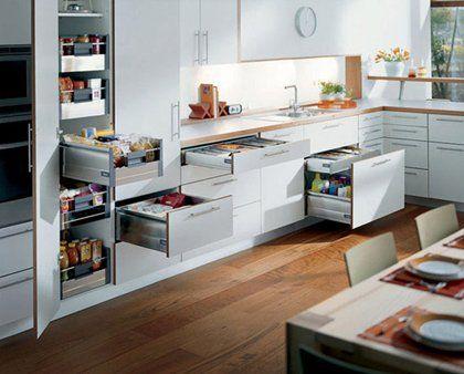 Gaveteros y columna de despensa en la cocina cocinas pinterest - Muebles de cocina alemanes ...