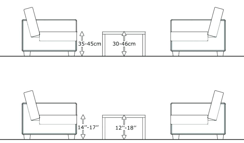 Coffee Table Height Google Search Coffee Table Height Table Height Dining Table Sizes
