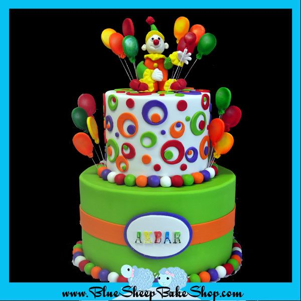 Admirable Circus Birthday Cake Pastel De Payaso Tortas De Cumpleanos Personalised Birthday Cards Beptaeletsinfo