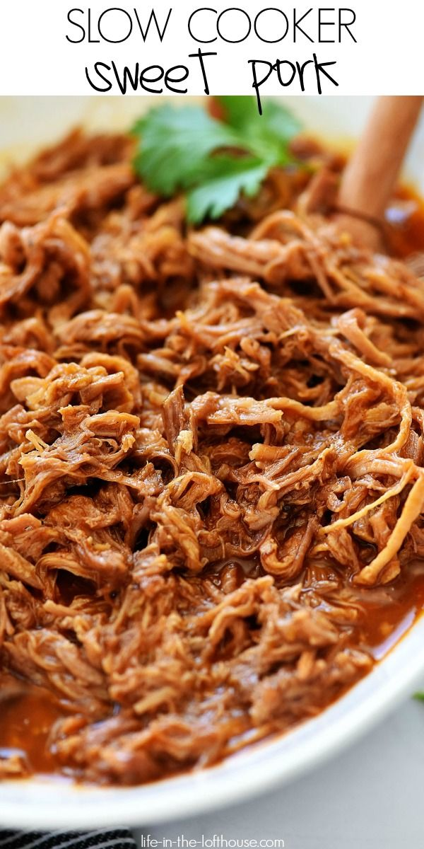 Slow Cooker Sweet Pork - Life In The Lofthouse