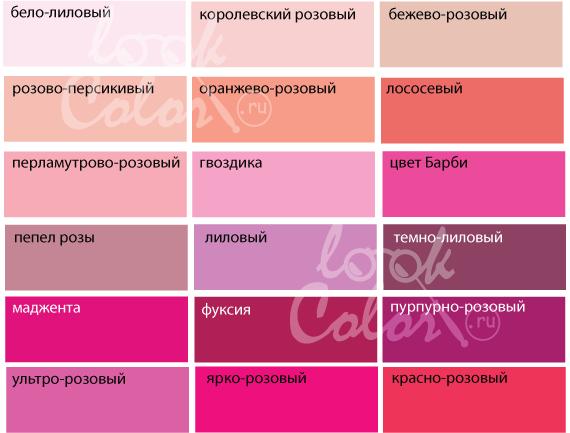 собрали из каких чгод получить розовый цвет будет