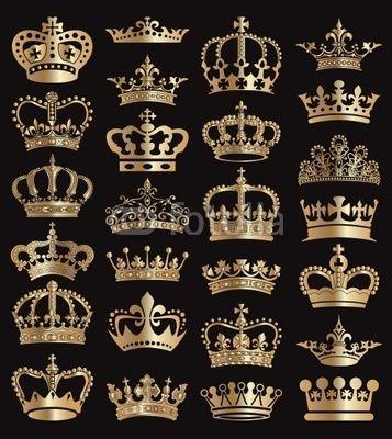 crowns vector collection love for orange pinterest kronen tattoo ideen und tattoo vorlagen. Black Bedroom Furniture Sets. Home Design Ideas