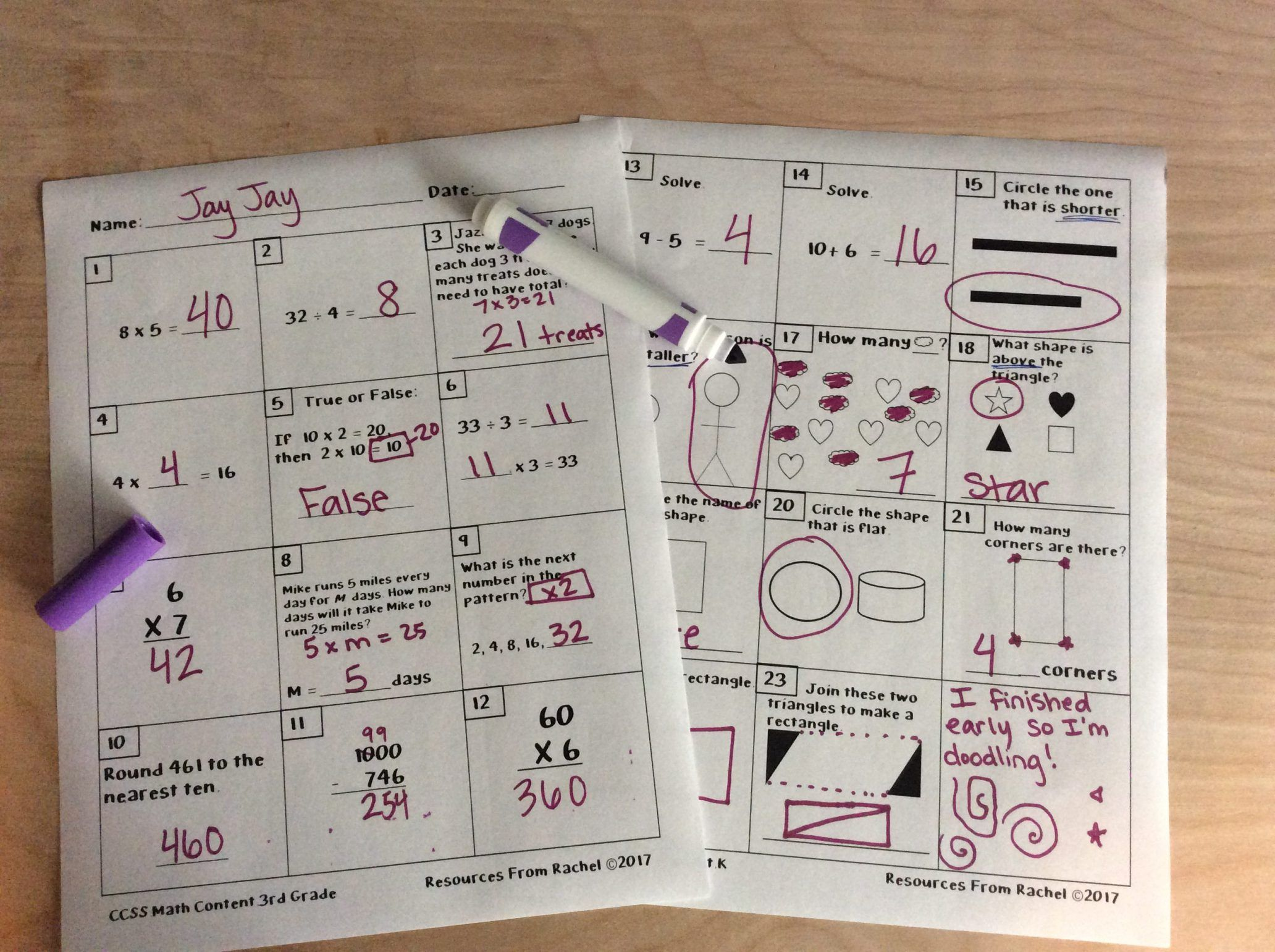 Informal Math Assessments Special Education