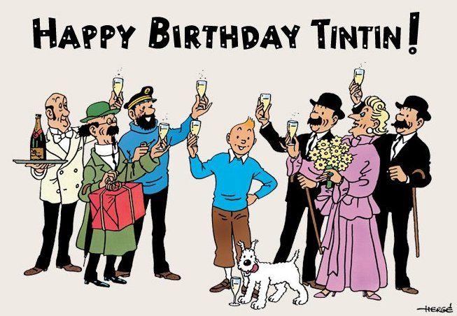 Resultado de imagem para bonne anniversaire tintin 90 ans
