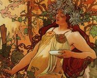 The Four Seasons - Autumn  By Alphonse Mucha