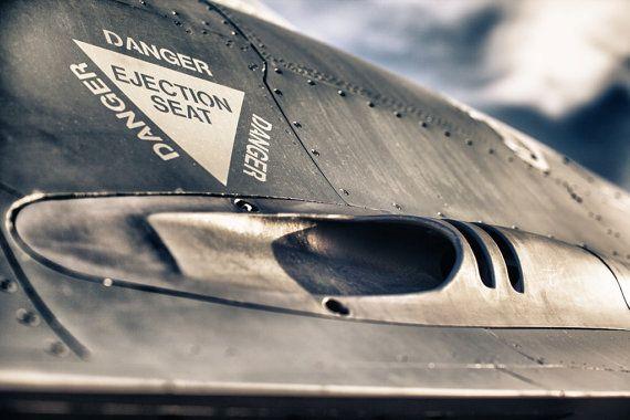 Aviation Photography, F-16 Gun Port, Metallic Photographic Print