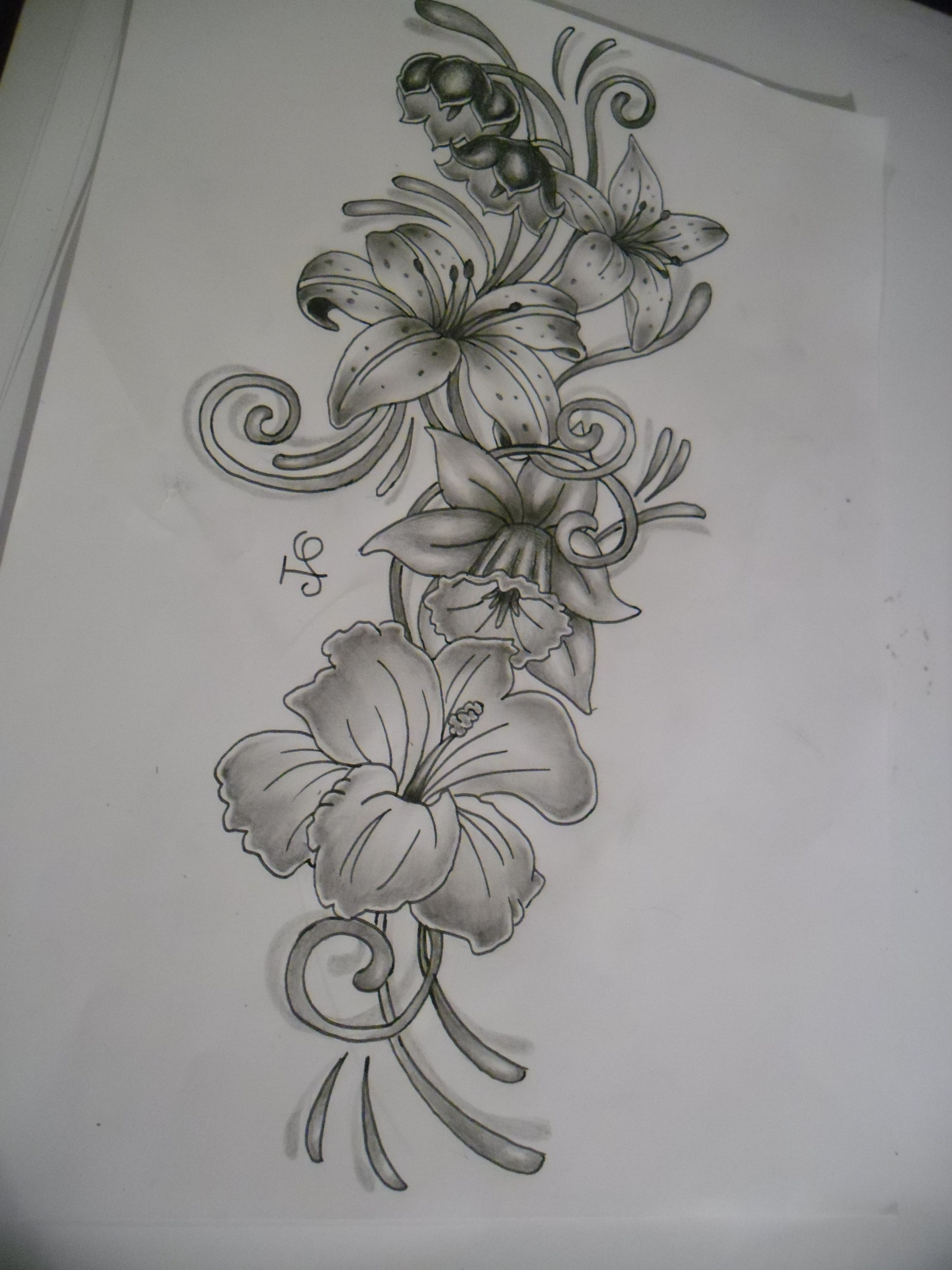 Black and white flower tattoo designs google search tattoo black and white flower tattoo designs google search dhlflorist Images