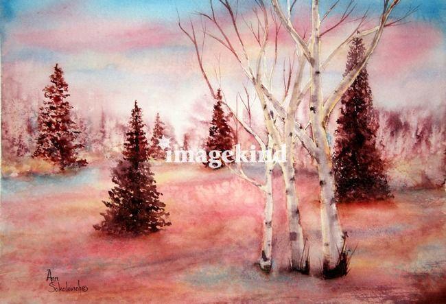 Pink Frost Art Prints by sokolovich