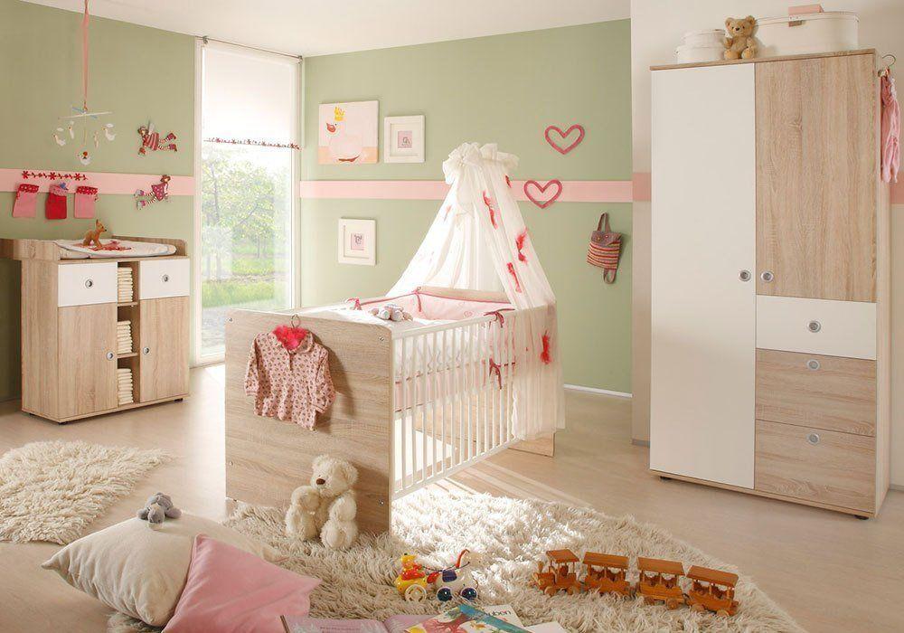 Babyzimmer WIKI 1 in Eiche Sonoma / Weiß 3tlg