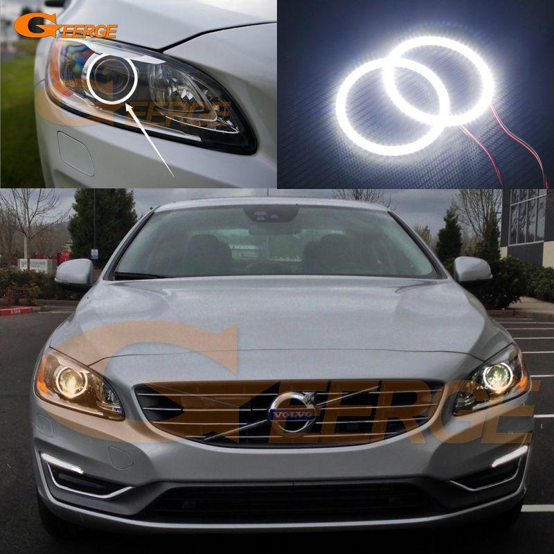 For Volvo S60 S60l V60 2014 2015 2016 Xenon Headlight Excellent Angel Eyes Ultra Bright Illumination Smd Led Angel Eyes Kit Volvo Volvo S60 Xenon Headlights