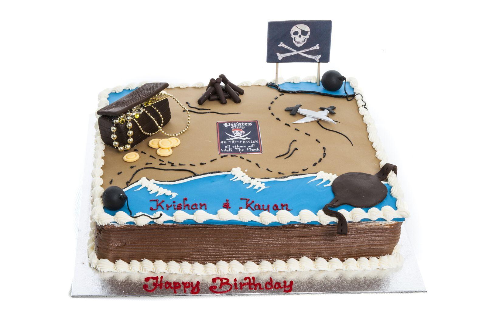 Treasure Map Birthday Cake