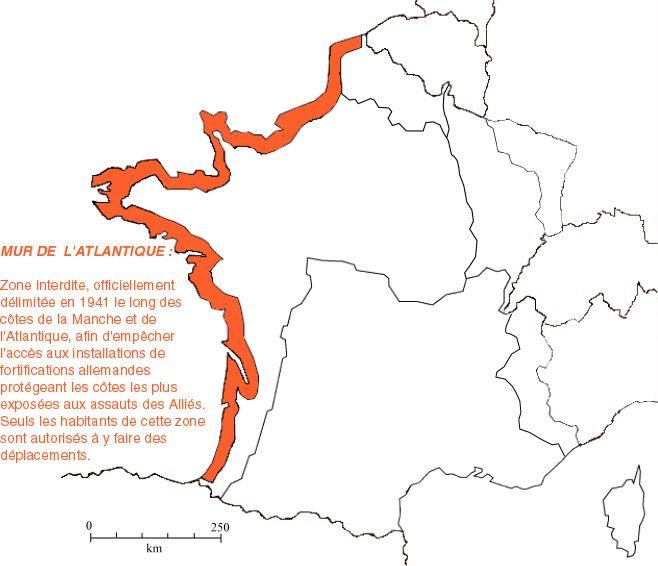 mur de l atlantique carte OÙ ÉTAIT LE MUR DE L'ATLANTIQUE, EN FRANCE ?