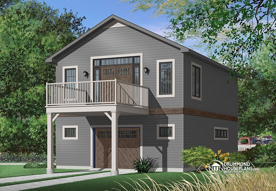 House plan w3954 detail from for 30x40 garage with apartment