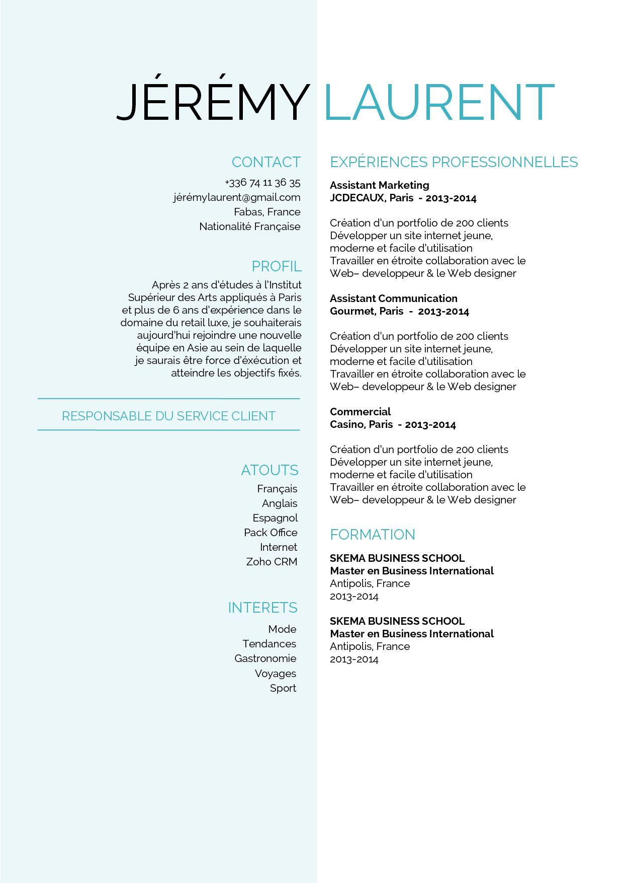 Cultive Une Presentation Sur 2 Colonnes Format Traditionnel Exemple De Lettre Exemple De Lettre De Motivation Lettre De Motivation
