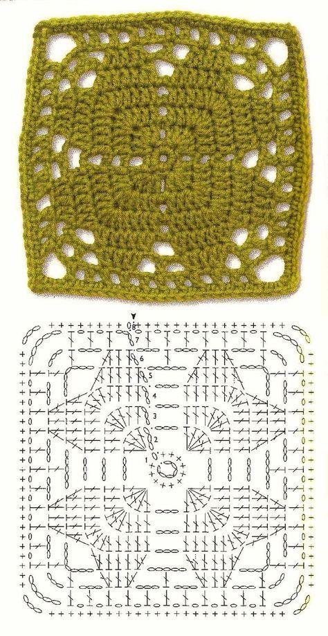 Diagram Harten Granny | Knitting & Crochetting | Pinterest ...