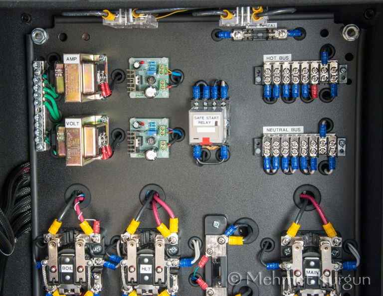 Control Panel 30A Kit Build with Some Mods Brewery Electric