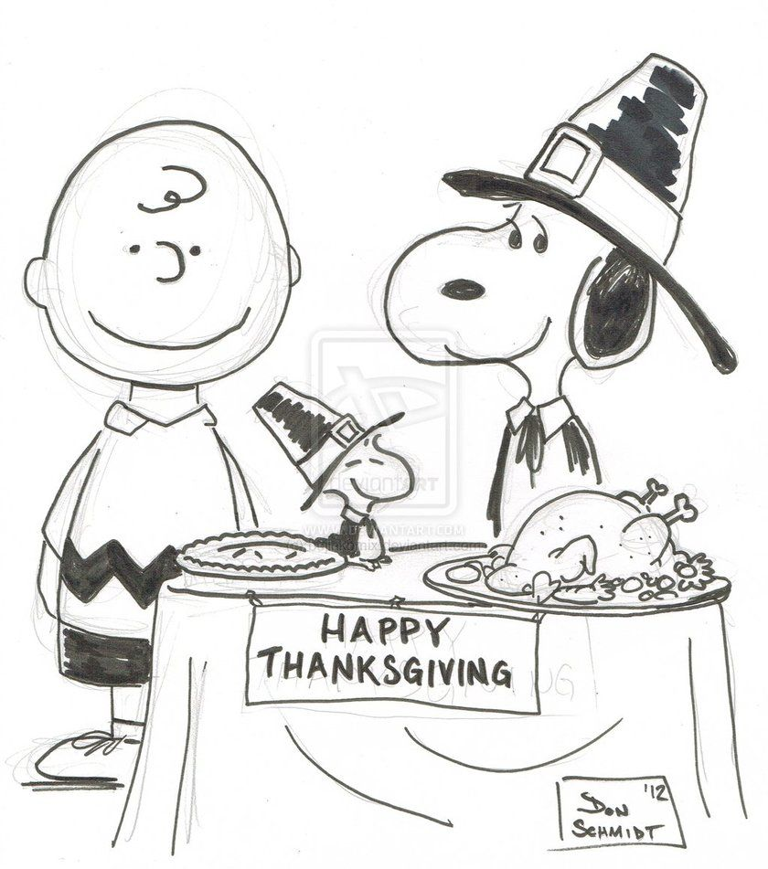 Superieur Snoopy Thanksgiving Coloring Pages