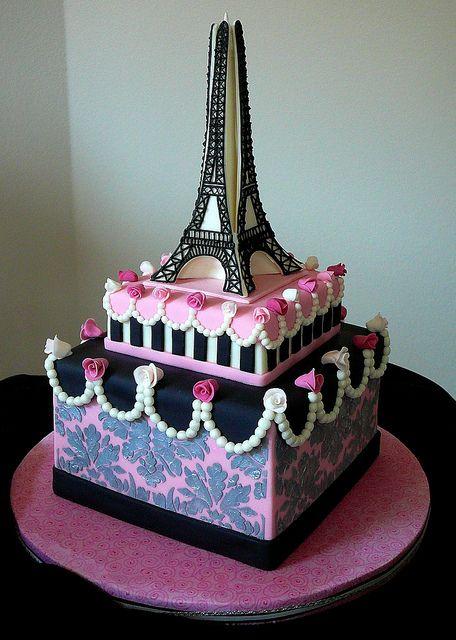 Eiffel Tower Cake Ideas | Eiffel Tower French Design Wedding Cake ...