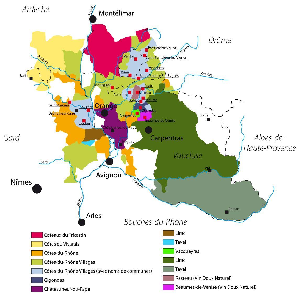 Vins Du Rhone Sud Vin Vins Et Carte Des Vins