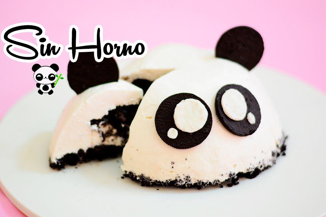 Cheesecake De Oreo Sin Horno Panda Mis Pastelitos Cheesecake De Oreo Pastel De Oreo Pasteles