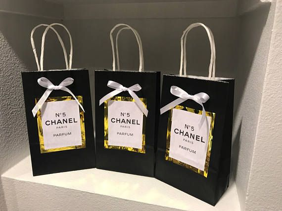 Chanel Number 5 Party Bags Great Gatsby Prom 60th Birthday Celebration