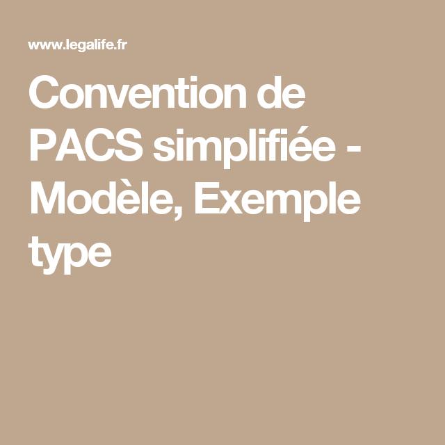 Convention de PACS simplifiée - Modèle, Exemple type
