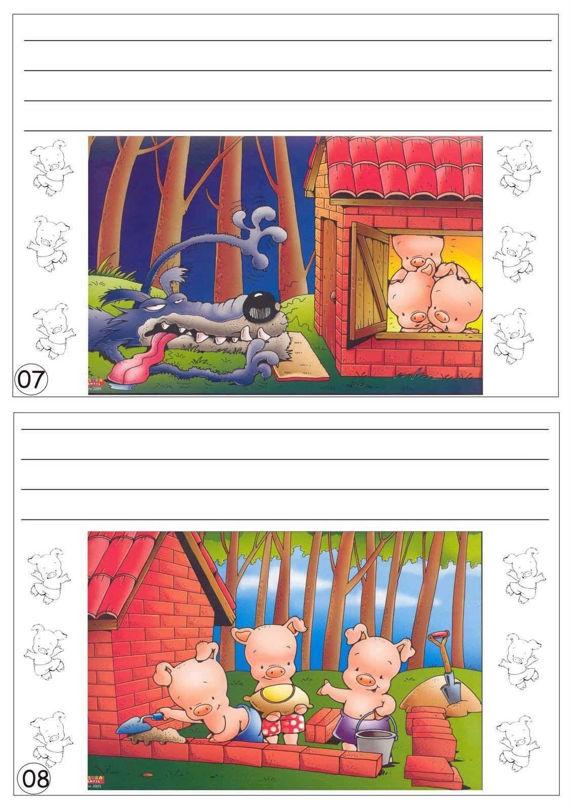 Produção de Texto Livrinho Os Três Porquinhos