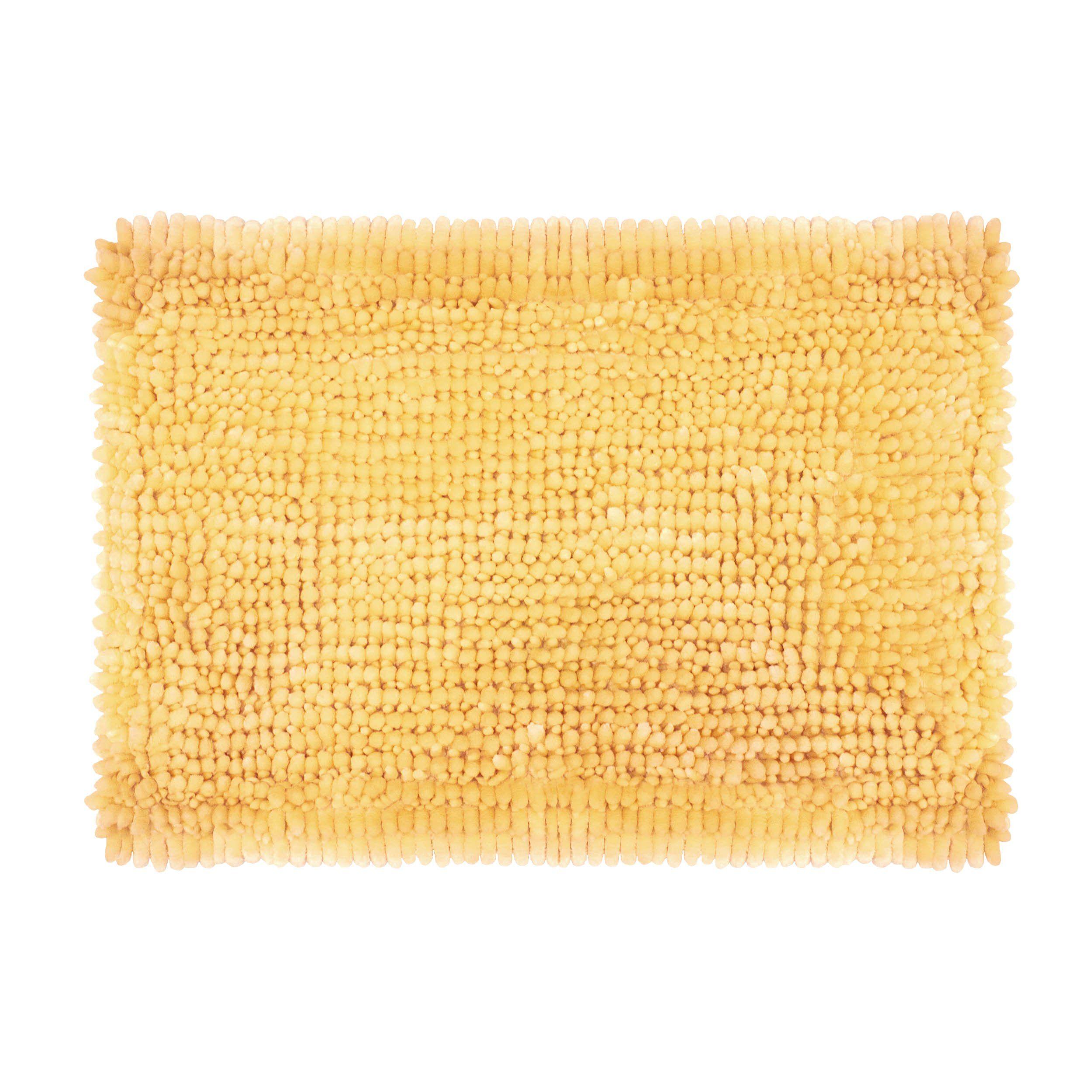 Laura Ashley Butter Chenille 17 X 24 Bath Mat Yellow