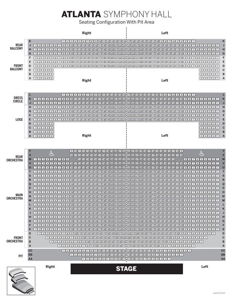 Stylish As Well As Interesting Atlanta Symphony Seating Chart Di 2020