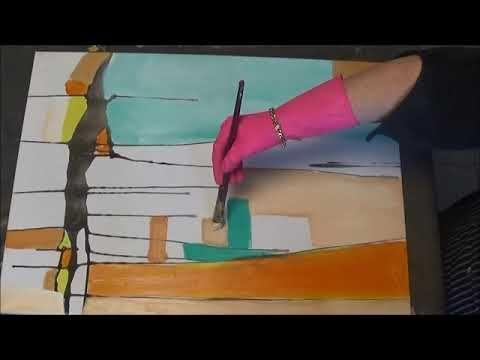 Malen Lernen Mit Acrylfarben Demonstration Fruhlingsfarben