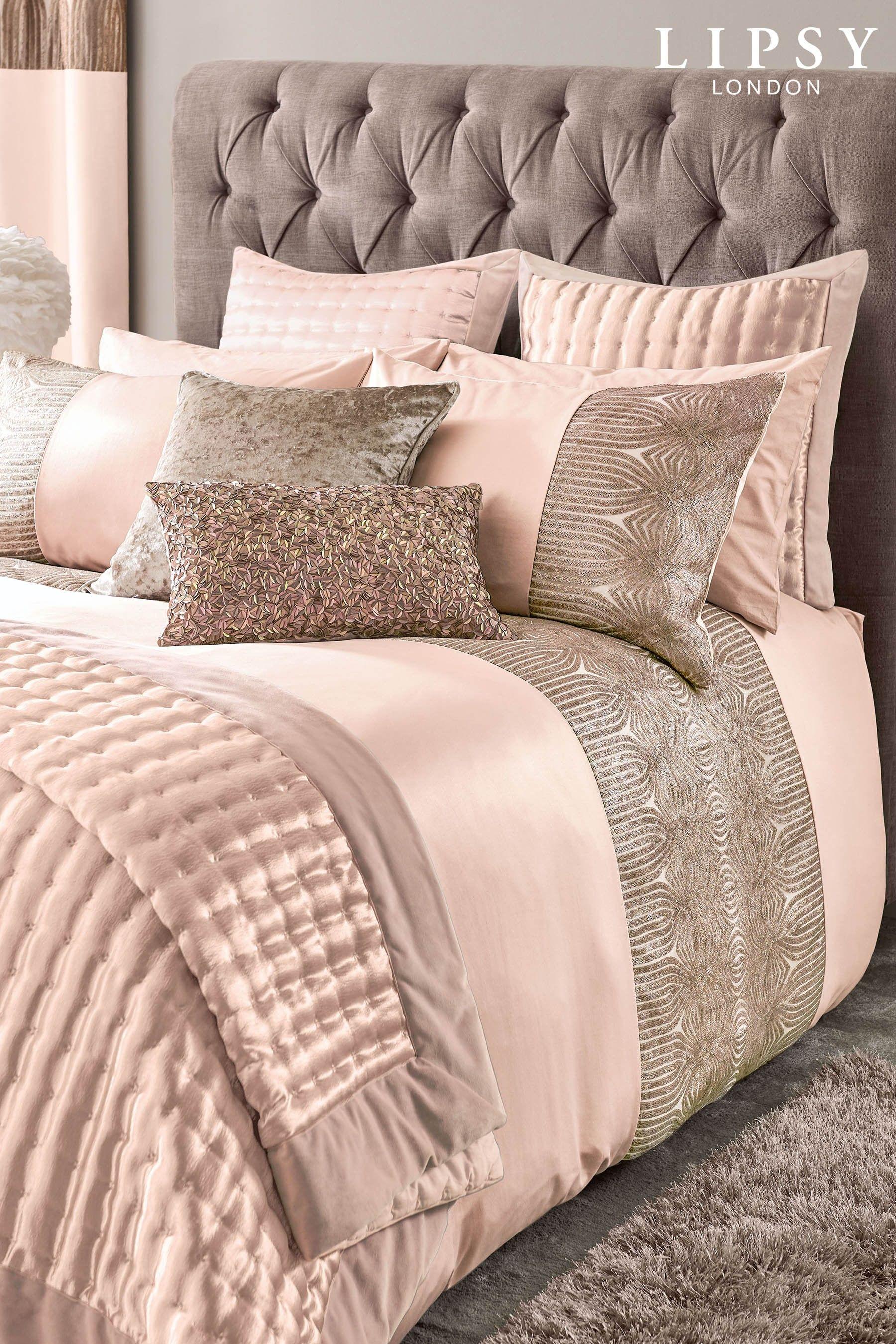 Lipsy Sequin Panel Bed Set Pink Luxury Duvet Covers Luxury