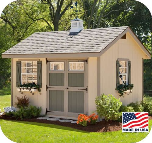Ez Fit Heritage 10x12 Wood Storage Shed Kit Ez Heritage1012 Shed Design Storage Shed Kits Wood Shed Plans