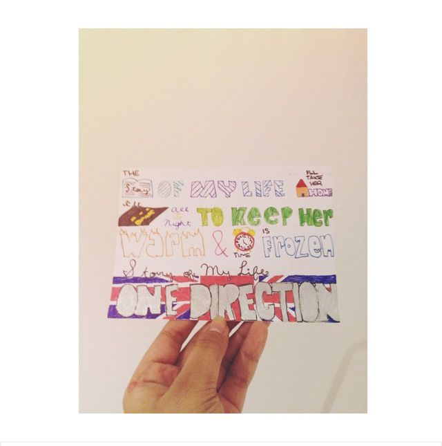 Story of My Life by One Direction lyric drawing :) (With ...