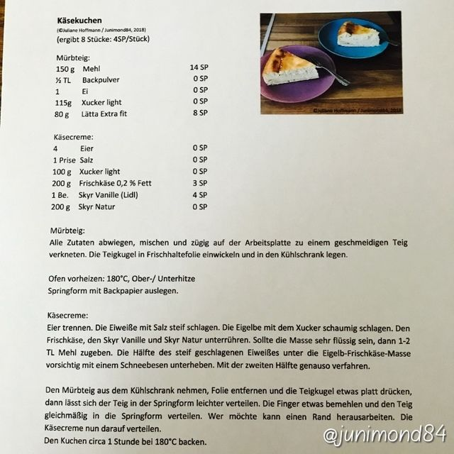 Posted By Junimond84 Ww Rezepte Pinterest