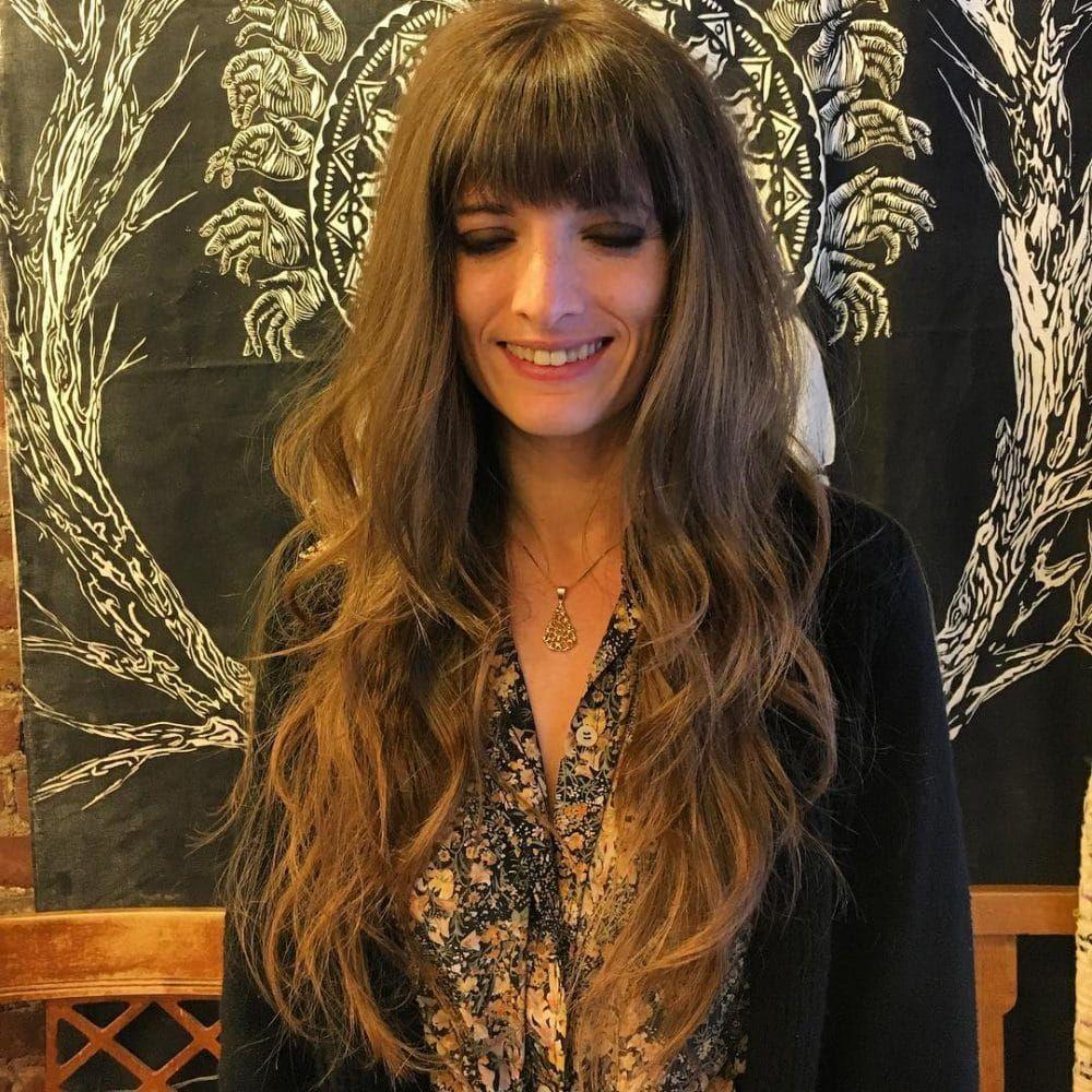 Frisuren die Sie lange Haare mit Pony machen wollen neueFrisuren