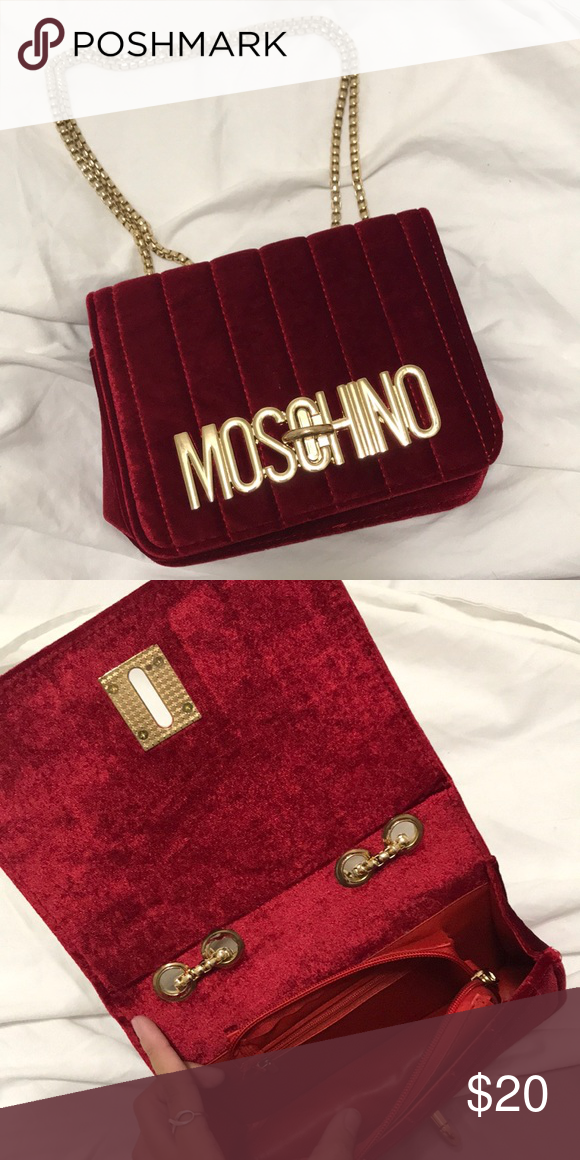 500da451b70 Strap can be worn short (in first picture) or long as a crossbody style.  Never used, brand new condition! Moschino Bags Clutches   Wristlets