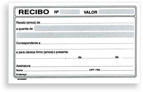 modelo de recibo pronto aluguel prestação de serviço impressão