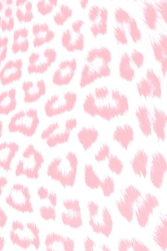 Pale Pink White Leopard Animal Print Iphone Wallpaper Phone