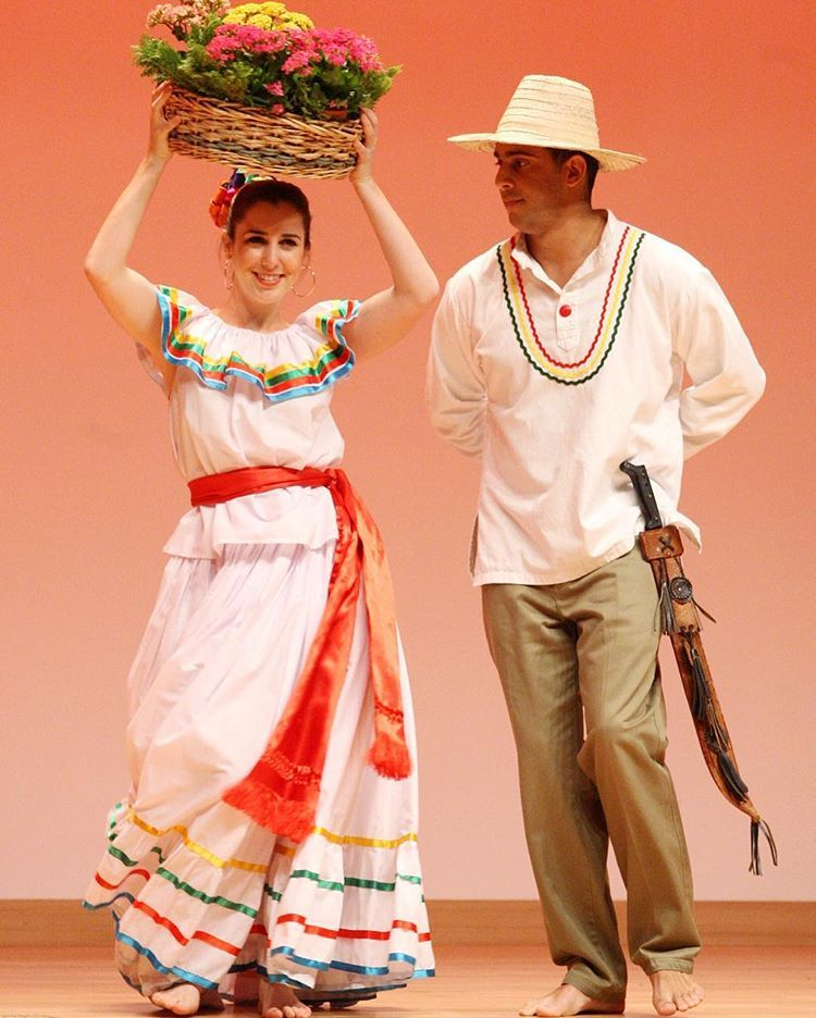 Dancers from Nicaragua make a performance on their