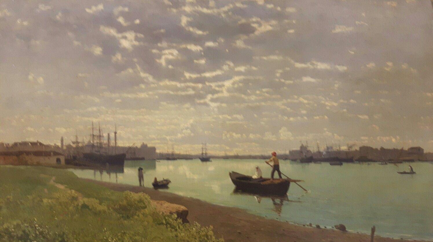 Guglielmo Ciardi (Venezia 1842-1917) Giudecca all'alba. Cariplo