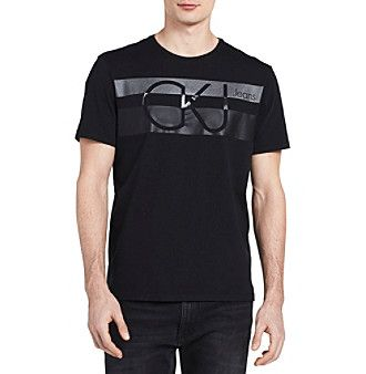 Calvin Klein Men's Chest Stripe Crewneck Tee