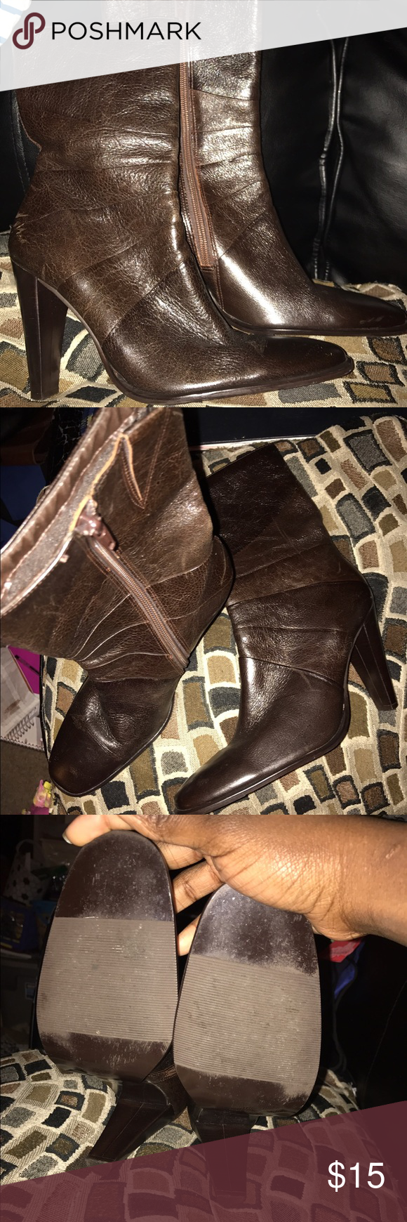 Chocolate Calf Boot A Rick dark brown calf boot, worn only once. There in excellent condition. Feet comfortably and easy to walk in. Goes well with jeans, skirt or dress! Shoes Heeled Boots