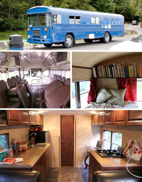 School S Out Forever 12 Crazy Diy Converted Bus Homes Urbanist Bus House School Bus Camper Converted Bus