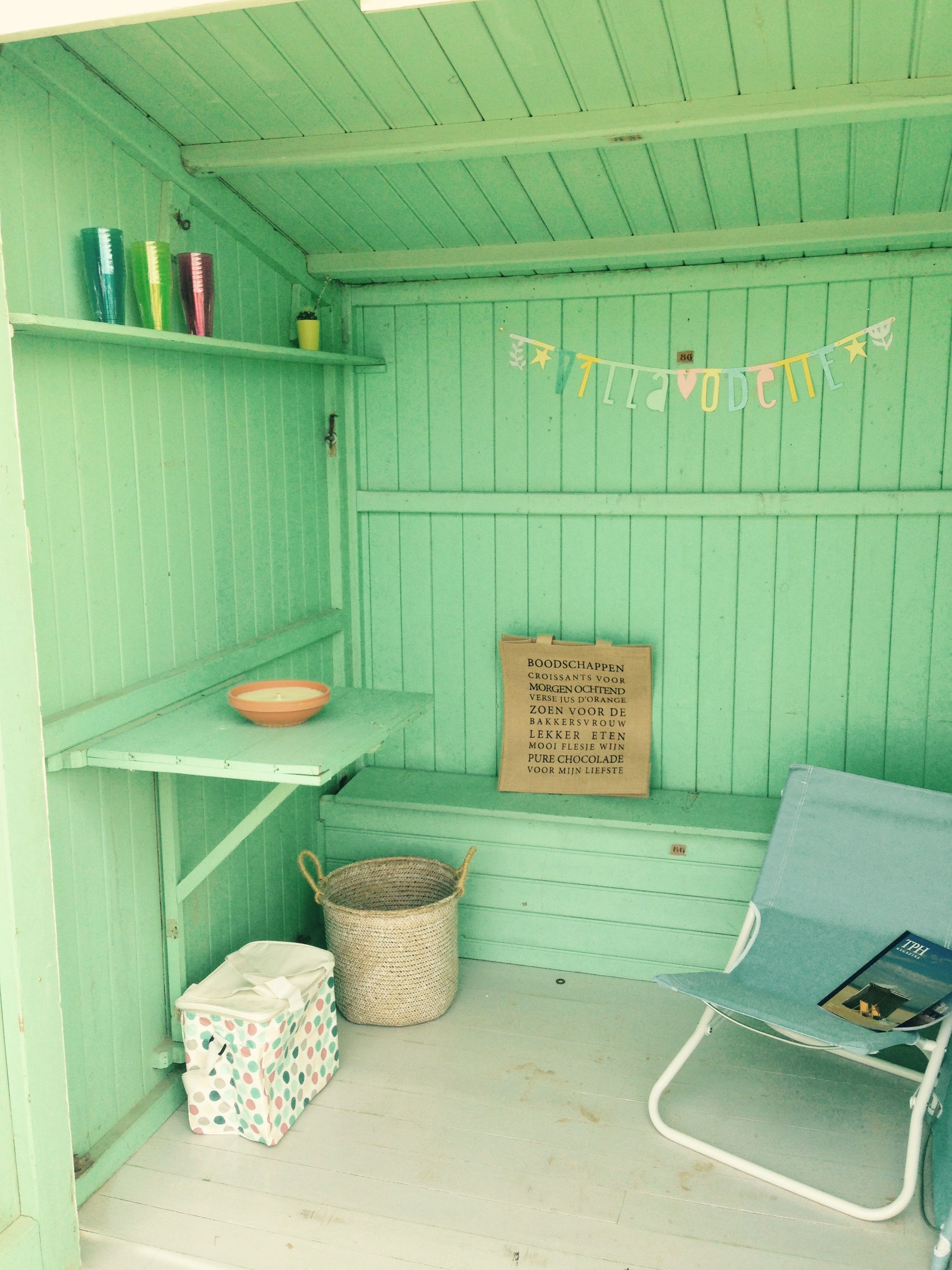 Strandcabine van vakantiehuis Oostende