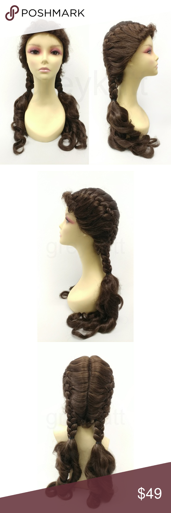 Brown Pigtails Dorothy Wizard Of Oz Wig Dorothy Wizard Of Oz Pigtails Costume Wigs