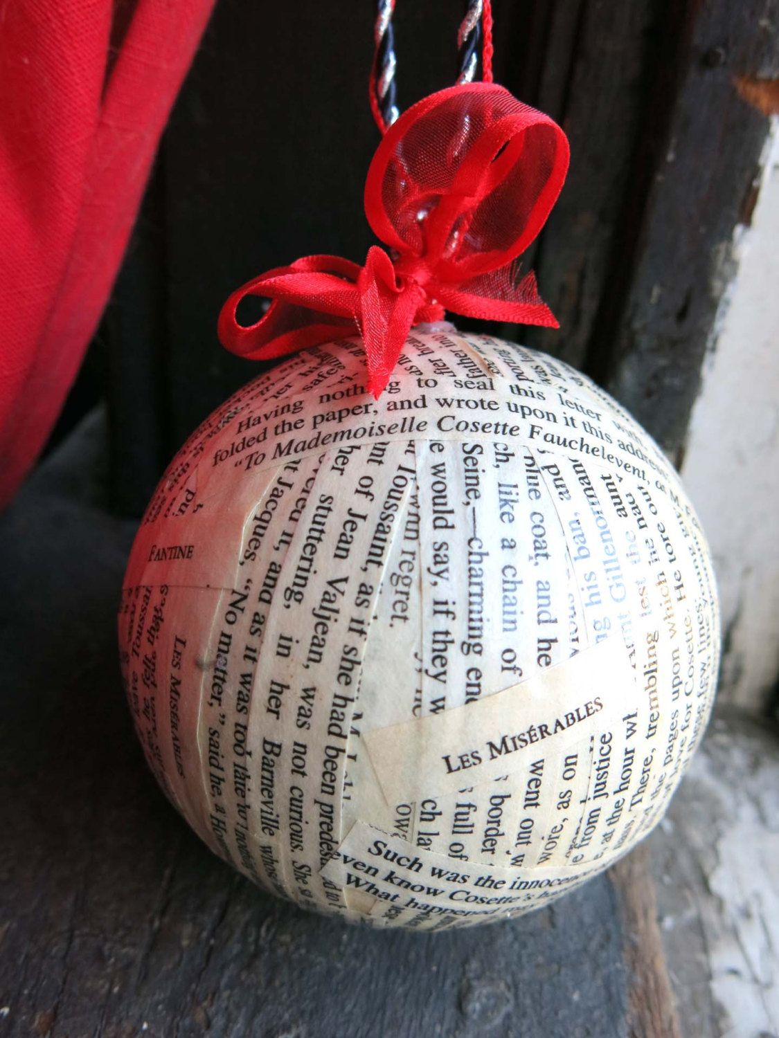 Les Miserables Christmas Ornament Handmade Home By