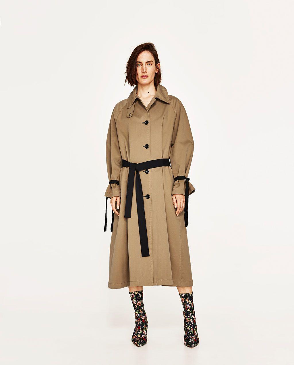 8222d2e9 TRENCH CINTURÓN A CONTRASTE STUDIO   2018大衣7   Coat, Fashion, Vest ...